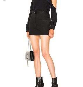 Helmut Lang Cotton Stretch Mini Skirt Black